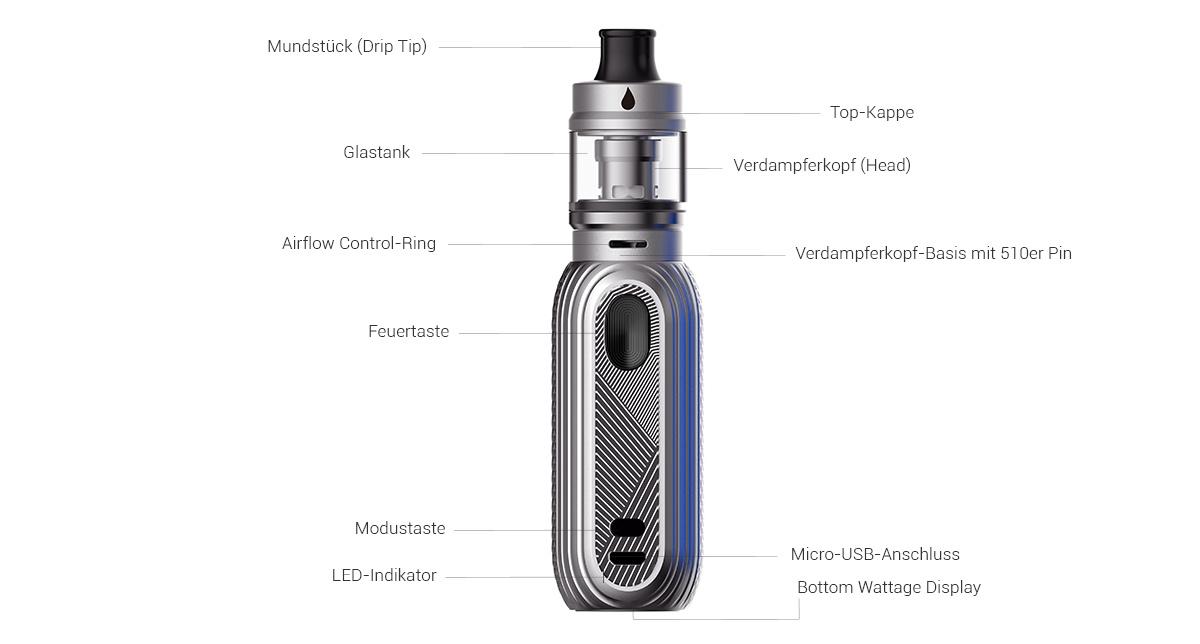 Aspire Reax E-Zigaretten Set Detail
