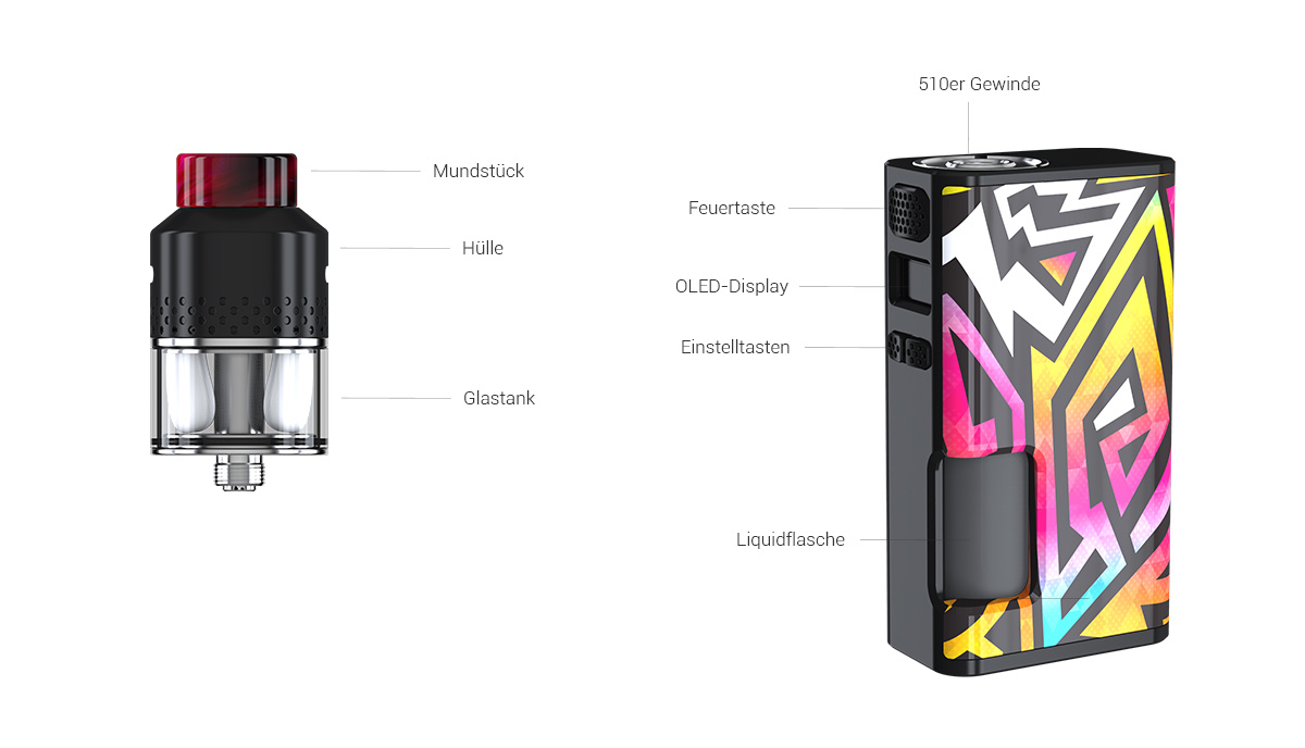 Wismec Luxotic Surface E-Zigaretten Set