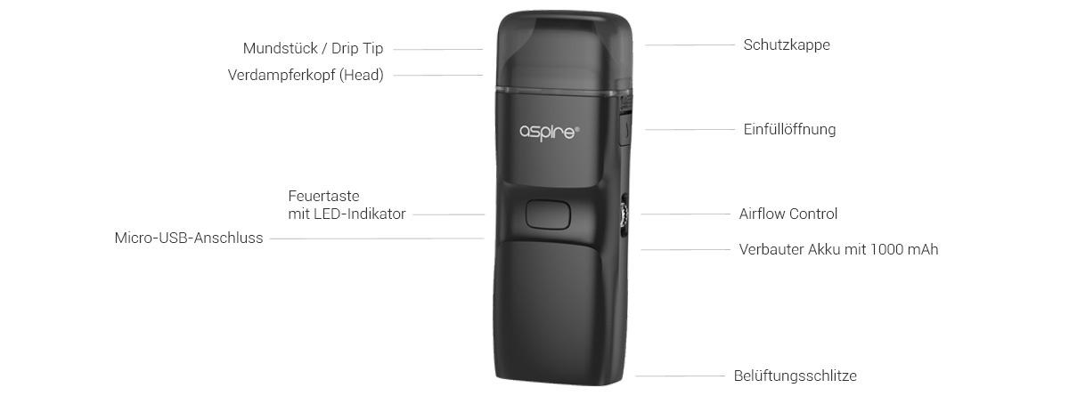 Aspire Breeze NXT E-Zigaretten Set