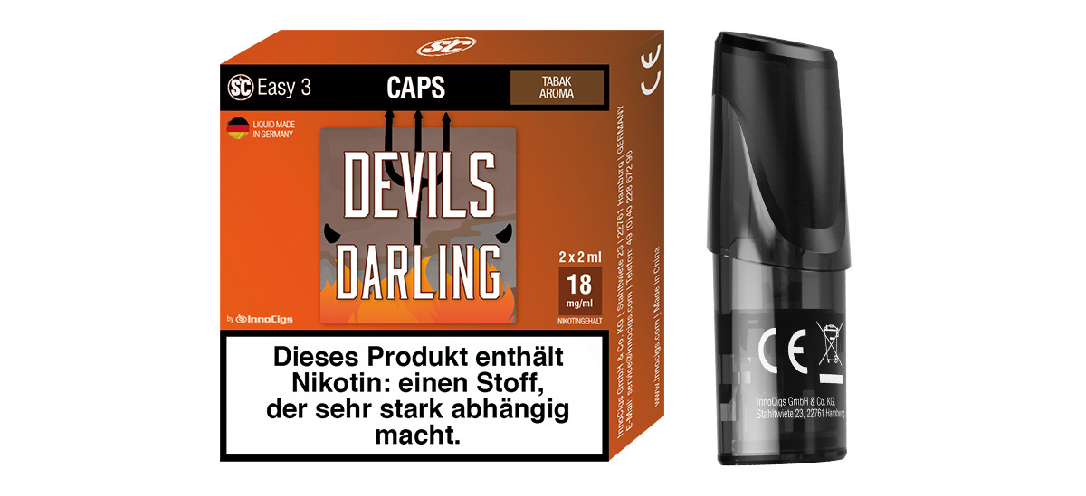 SC Easy 3 Caps Devils Darling Tabak (2 Stück pro Packung)
