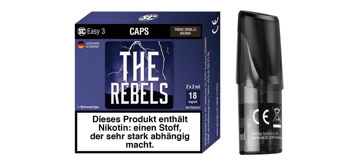 SC Easy 3 Caps The Rebels Tabak Vanille (2 Stück pro Packung)