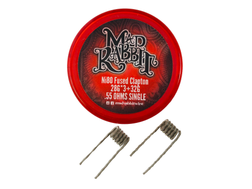 Mad Rabbit Ni80 Fused Clapton Coil (2 Stück pro Packung)