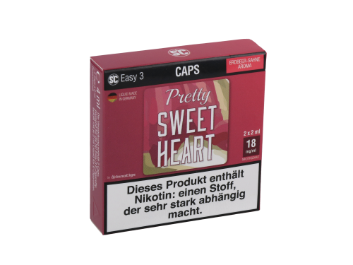 SC Easy 3 Caps Pretty Sweetheart Sahne-Erdbeere (2 Stück pro Packung)
