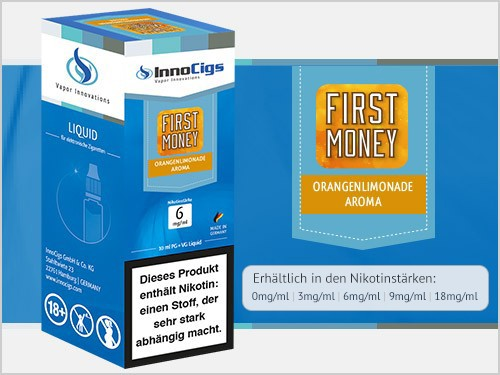 First Money Orangenlimonade Aroma - Liquid für E-Zigaretten