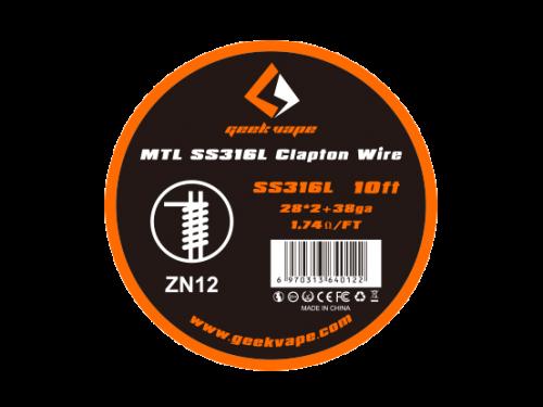 Geekvape SS316L Clapton Wickeldraht