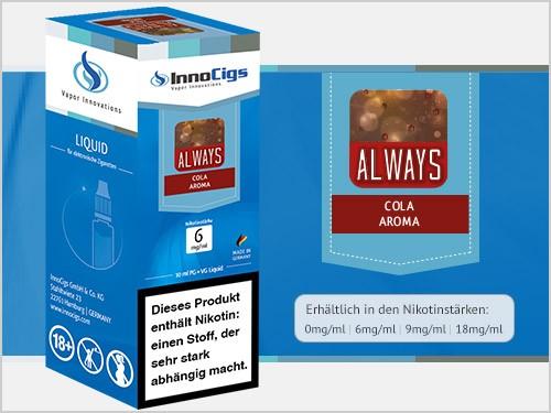 Always Cola Aroma - Liquid für E-Zigaretten