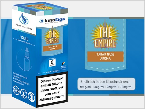 The Empire Tabak Nuss Aroma - Liquid für E-Zigaretten