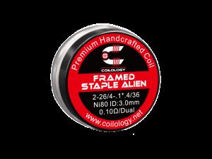 Coilology Handmade Framed Staple Alien Ni80 0,1 Ohm (2 Stück pro Packung)