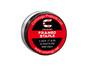 Coilology Framed Staple Ni80 2x0,40mm/4x.3*.1/0,12mm (10 Stück pro Packung)