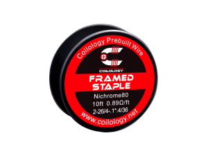 Coilology Framed Staple Ni80 2x0,40mm/4x.3*.1/0,12mm (3m pro Rolle)