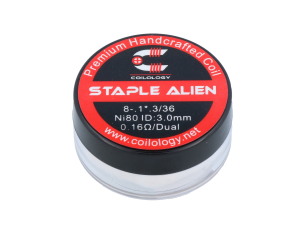 Coilology Handmade Staple Alien Ni80 0,16 Ohm (2 Stück pro Packung)