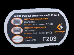 Kit de résistances N80 Fused Clapton 2 in 1 de GeekVape