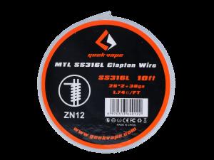 Geekvape SS316L Clapton MTL Wickeldraht