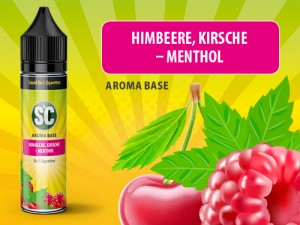 Vape Base - Himbeere, Kirsche-Menthol 0mg/ml 50ml