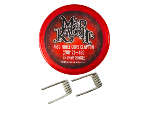 Mad Rabbit Ni80 Three Core Clapton Coil (2 Stück pro Packung)