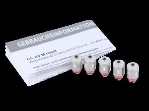 SC GS Air M Heads 0,6 Ohm (5 Stück pro Packung)