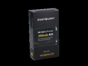 ZestQuest 18650er 3000mAh (2 Stück pro Packung)