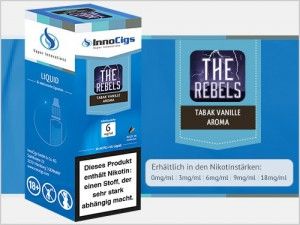 The Rebels Tabak Vanille Aroma - Liquid für E-Zigaretten