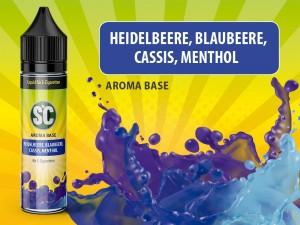 Vape Base - Heidelbeere, Blaubeere, Cassis-Menthol 0mg/ml 50ml