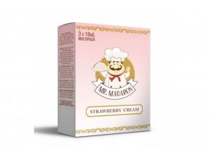 Mr. Macaron Strawberry Cream E-Zigaretten Liquid (3x 10ml)