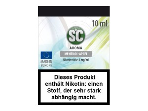 Menthol-Apfel E-Zigaretten Liquid